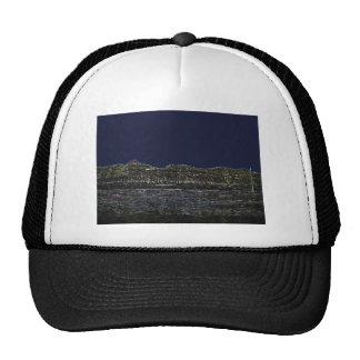 Glowing Nevada Mountain Landscape Mesh Hat