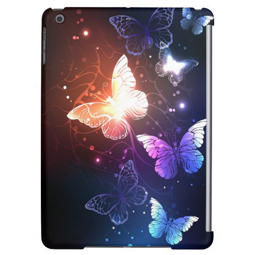 Glowing Night Butterflies Case For iPad Air
