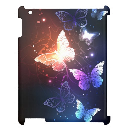 Glowing Night Butterflies Case For The iPad