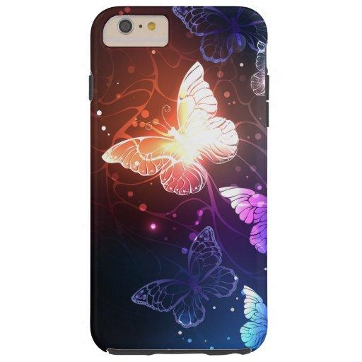 Glowing Night Butterflies Tough iPhone 6 Plus Case