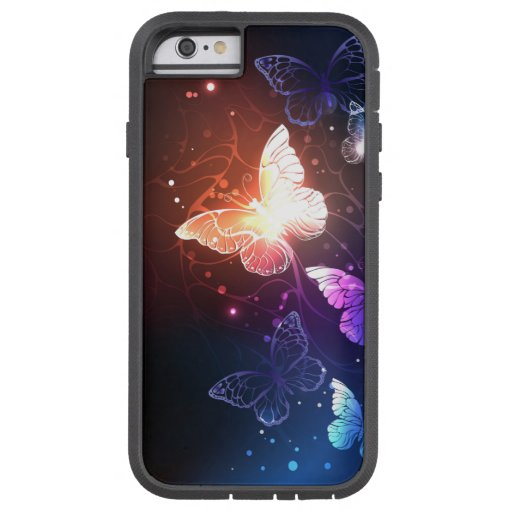 Glowing Night Butterflies Tough Xtreme iPhone 6 Case