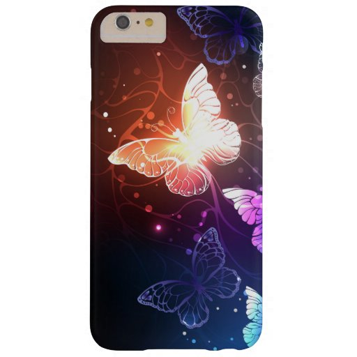 Glowing Night Butterflies Barely There iPhone 6 Plus Case