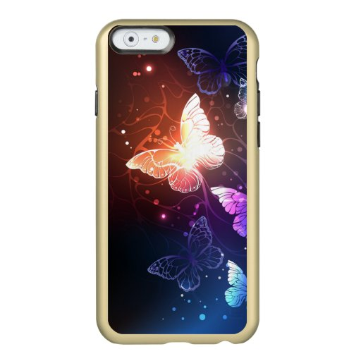 Glowing Night Butterflies Incipio Feather Shine iPhone 6 Case