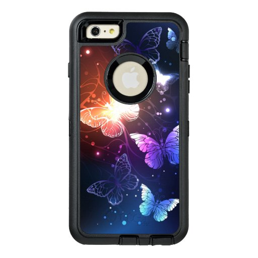 Glowing Night Butterflies OtterBox Defender iPhone Case