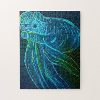Glowing Octopus Jigsaw Puzzle