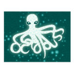 Glowing Octopuss Postcard