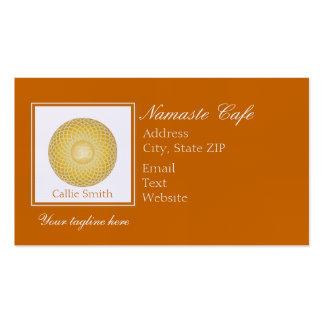 Glowing Om Orb Double-Sided Standard Business Cards (Pack Of 100)