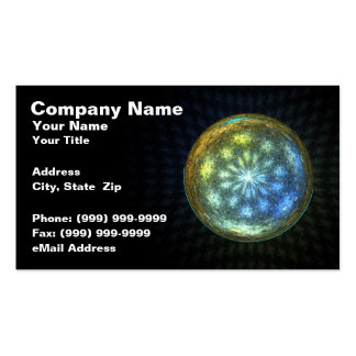 Glowing Orb on Black Background Double-Sided Standard Business Cards (Pack Of 100)