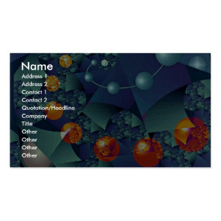 Glowing orbit photo Double-Sided standard business cards (Pack of 100)