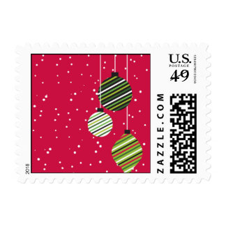 Glowing Ornaments Postage