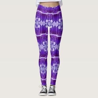 Glowing Palms Purple Geometric Leggings