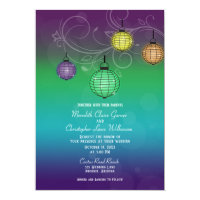 Glowing Paper Lanterns Wedding Invitation