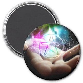 Glowing pentacle magnet