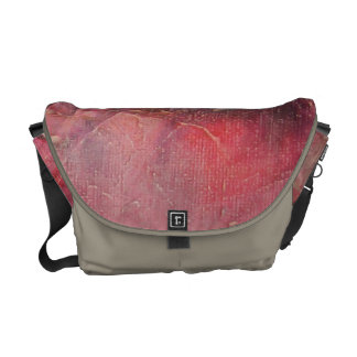 Glowing Pink Abstract Courier Bag