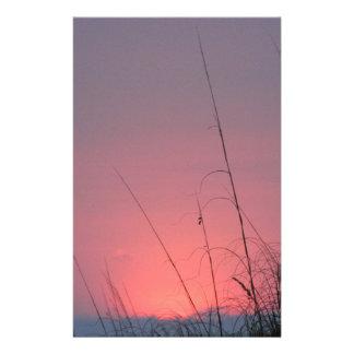 Glowing Pink and Purple Sunset Custom Stationery