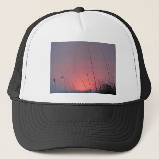 Glowing Pink and Purple Sunset Trucker Hat