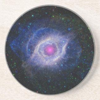 glowing pink eye nebula coasters
