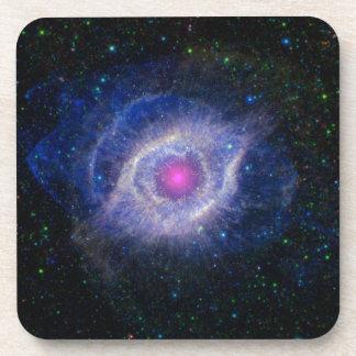 glowing pink eye nebula drink coaster