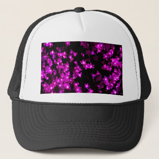 Glowing Pink Flower Lights Trucker Hat