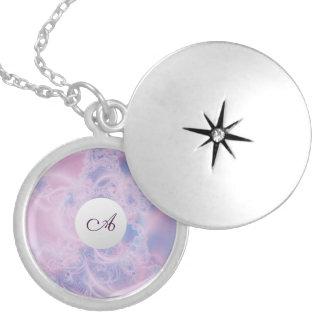 Glowing Pink Round Locket Necklace
