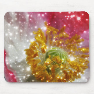 Glowing Poppy Mouse Pad