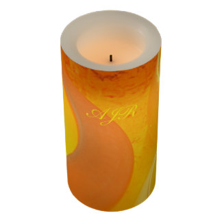 Glowing Pottery Kiln - Golden oranges and yellows Flameless Candle