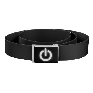 Glowing Power On Symbol Funny Belt