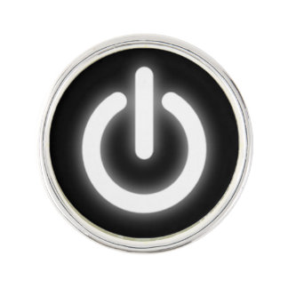 Glowing Power On Symbol Funny Pin