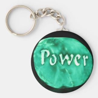 Glowing power rock keychains