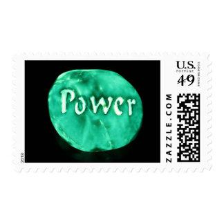 Glowing power rock postage