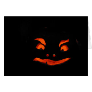glowing pumpkin card