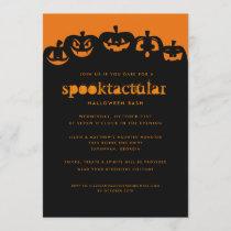 Glowing Pumpkins Halloween Bash Invitation