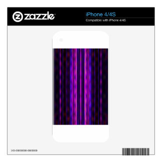 Glowing purple blurred stripes decals for the iPhone 4S