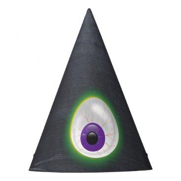 Halloween Themed Glowing Purple Eyeball Third Eye Halloween Adult Party Hat