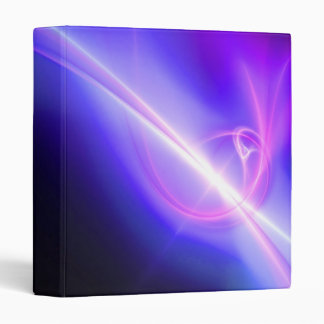 Glowing Purple Fractal Abstract Art 3 Ring Binder