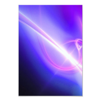 Glowing Purple Fractal Abstract Art Card