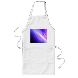 Glowing Purple Fractal Abstract Art Long Apron