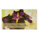 Glowing Purple Iris Floral Business Card