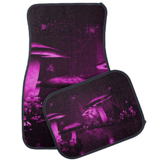 Glowing Purple  Mushrooms Car Mat