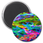 Glowing Rainbow Abstract 2 Inch Round Magnet