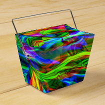 Glowing Rainbow Abstract Favor Box