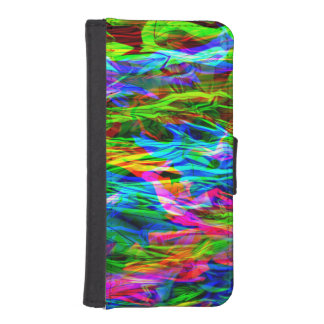 Glowing Rainbow Abstract iPhone SE/5/5s Wallet