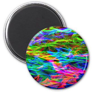 Glowing Rainbow Abstract Magnet