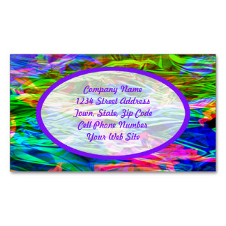 Glowing Rainbow Abstract Magnetic Business Card