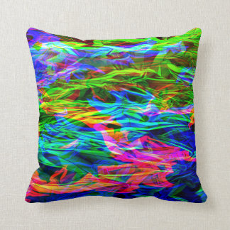 Glowing Rainbow Abstract Throw Pillows