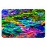 Glowing Rainbow Abstract Rectangular Photo Magnet