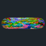 "Glowing Rainbow Abstract Skateboard Deck<br><div class=""desc"">Featuring a stylish modern design of bright vivid colors. The psychedelic abstract pattern is designed with irregular streaky lines of color. The rainbow hues include red, orange, yellow, green, blue, indigo and violet. This comtemporary design adds a vibrant fluorescent like glow, in shades of neon green, hot pink and electric...</div>"