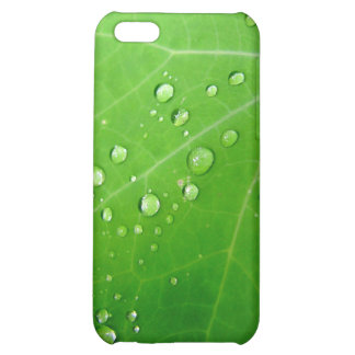 Glowing Raindrops on nasturtium leaf Cover For iPhone 5C
