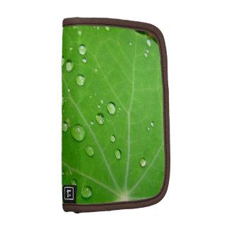 Glowing Raindrops on nasturtium leaf Planners