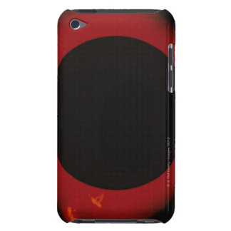 Glowing Red Corona Barely There iPod Cover
